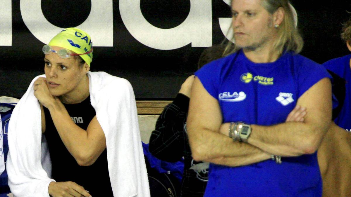 Laure Manaudou et Philippe Lucas, en 2007