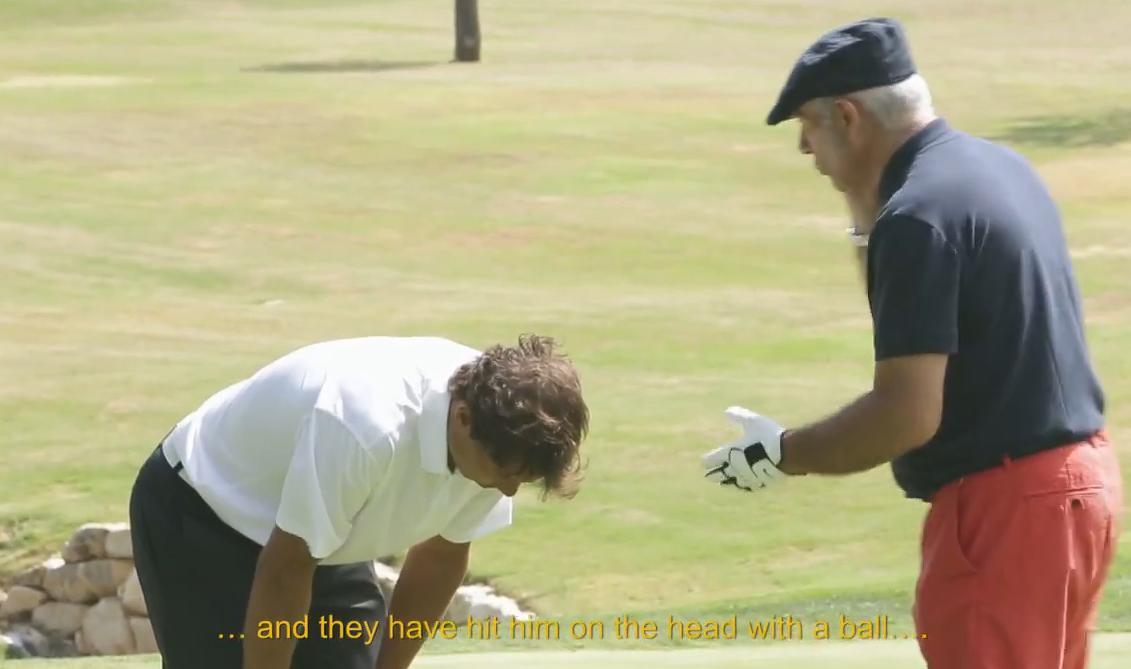 Rafael Nadal amnésique sur un green de golf ! (vidéo)