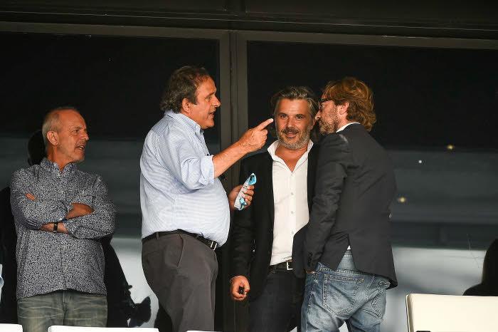 Vincent Labrune et Michel Platini au Stade Vélodrome