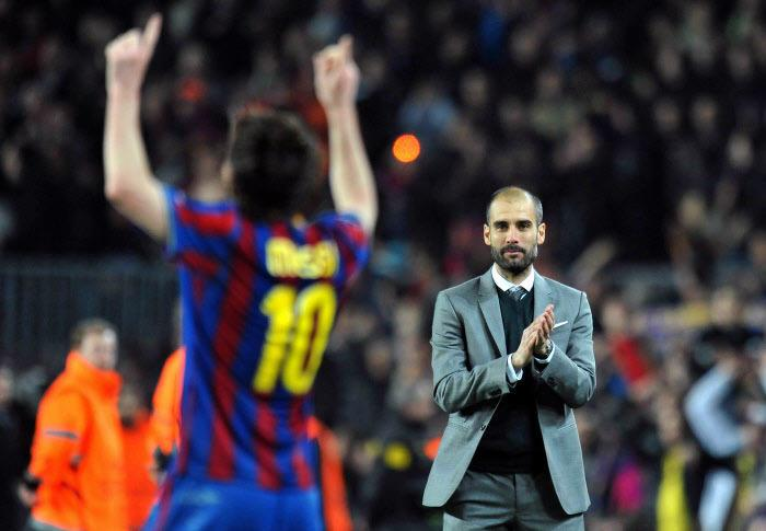Lionel Messi et Pep Guardiola, en 2010