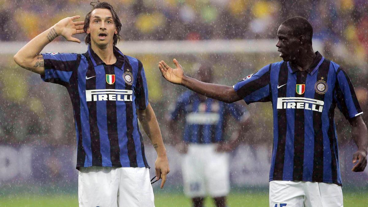 Zlatan Ibrahimovic et Mario Balotelli, Inter