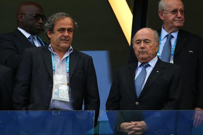 Laurent Blanc et Sepp Blatter
