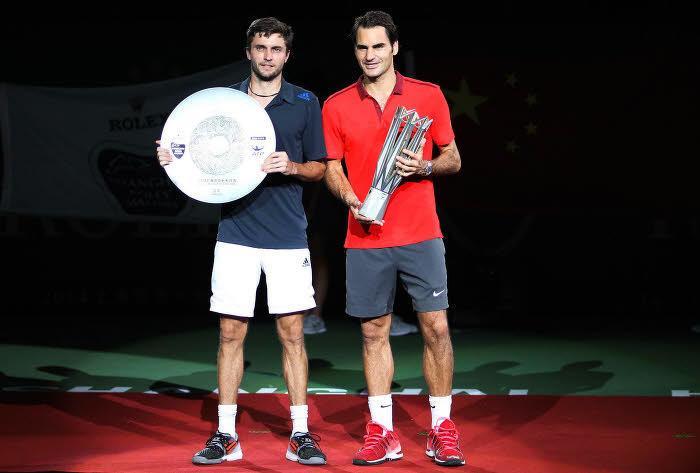 Gilles Simon et Roger Federer