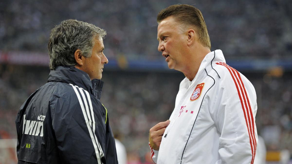 manchester united chelsea un van gaal philosophe evoque le surnom de jose mourinho