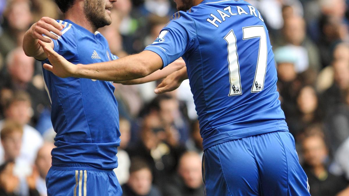 Juan Mata & Eden Hazard, Chelsea