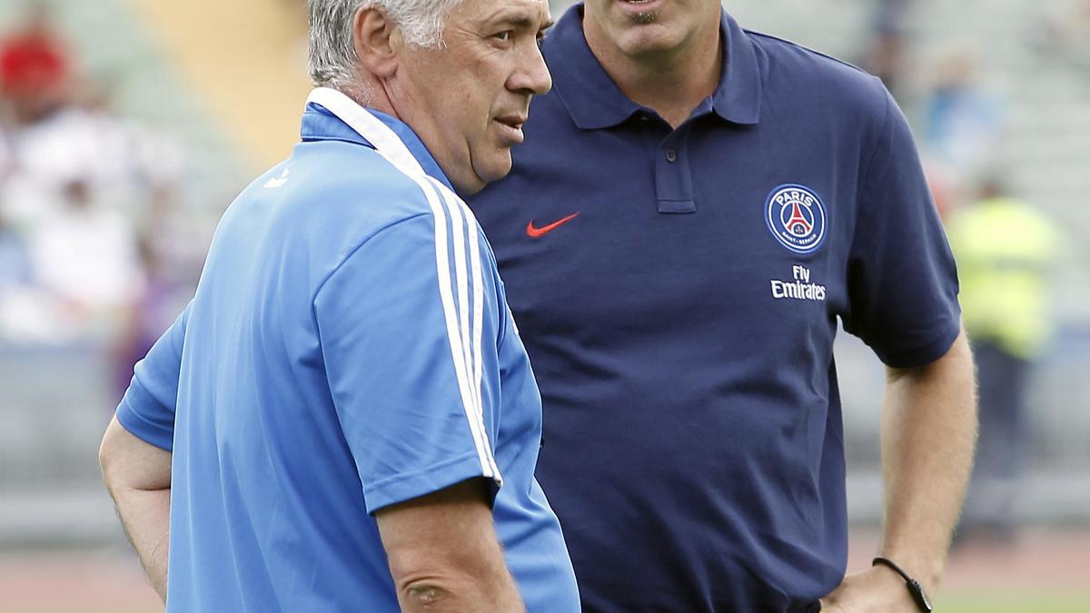 Carlo Ancelotti - Laurent Blanc