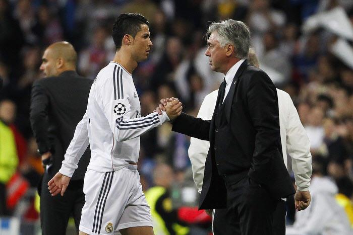 Cristiano Ronaldo et Carlo Ancelotti, Real Madrid
