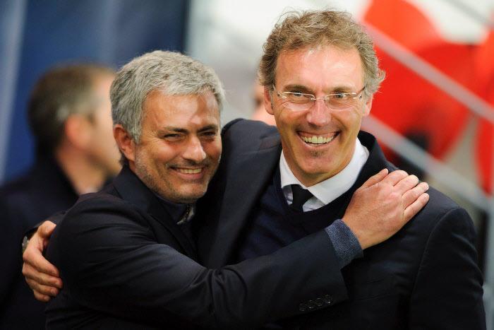 Laurent Blanc et José Mourinho
