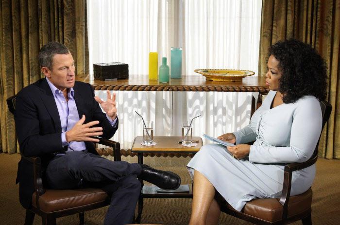 Lance Armstrong sur le plateau de l'émission d'Oprah Winfrey