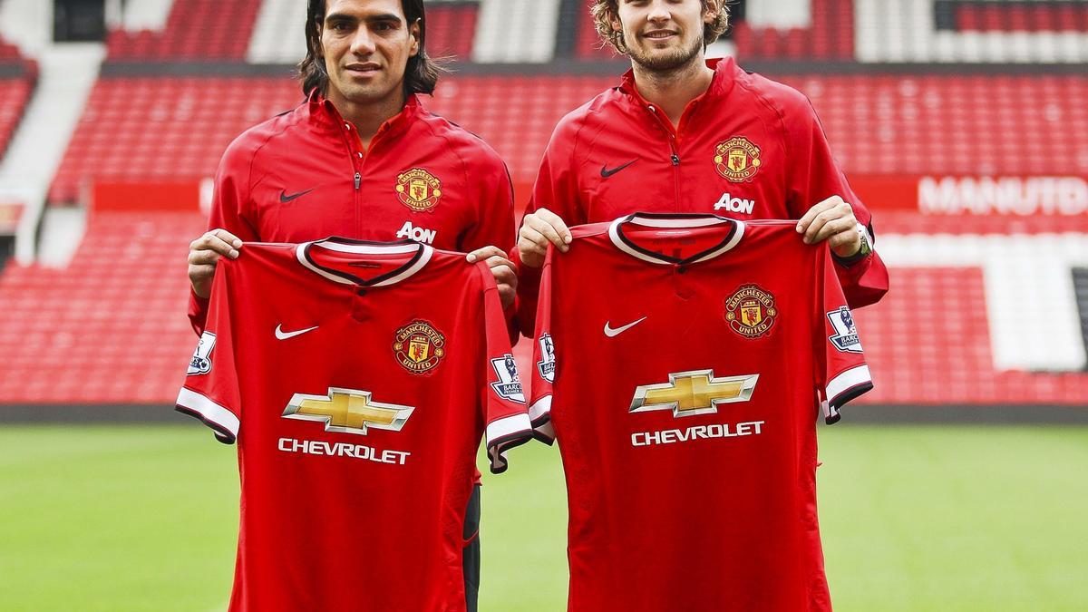 Radamel Falcao & Daley Blind, Manchester United