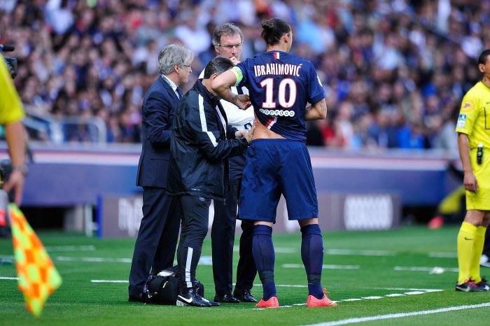Zlatan Ibrahimovic et Laurent Blanc au PSG