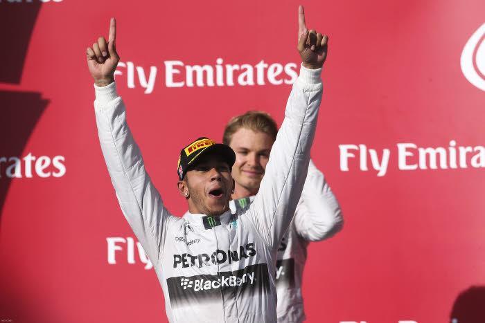 Lewis Hamilton vainqueur du Grand Prix