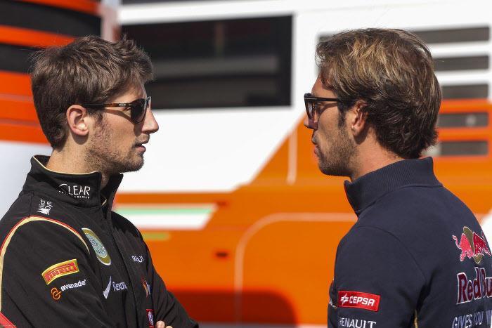 Romain Grosjean et Jean-Éric Vergne
