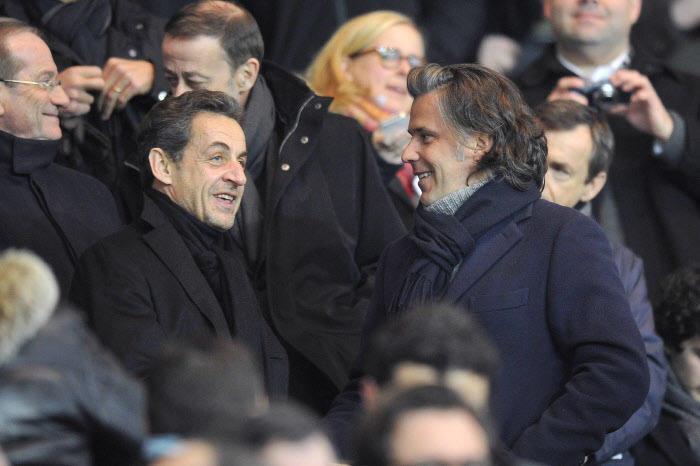 Nicolas Sarkozy et Vincent Labrune
