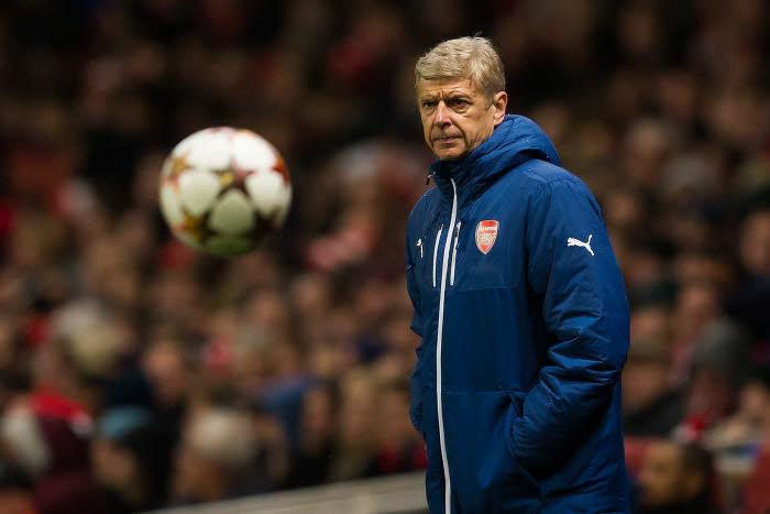 Arsène Wenger sur le banc d'Arsenal