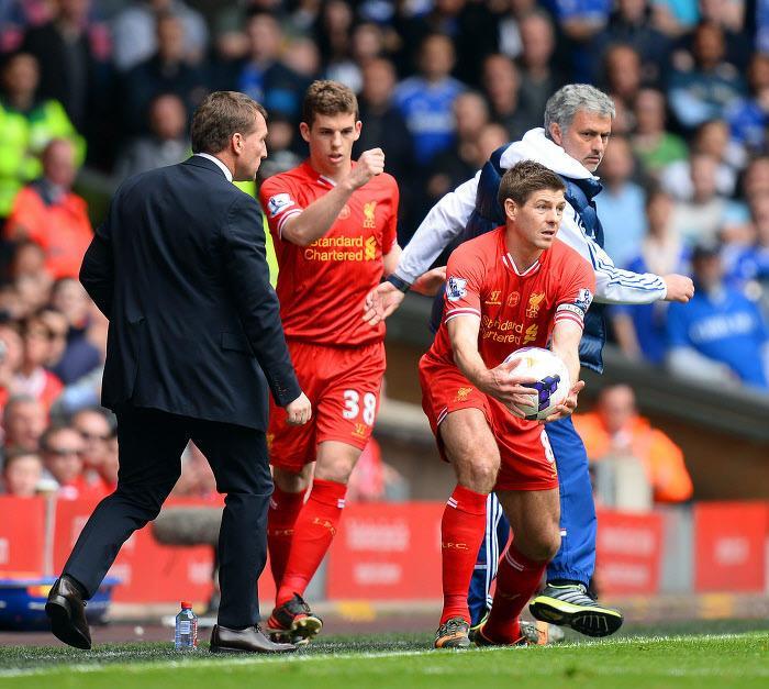 José Mourinho et Steven Gerrard, avril 2014