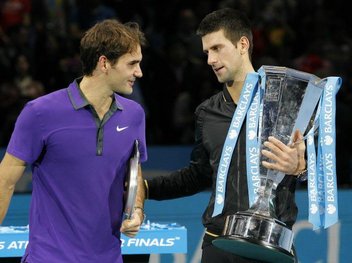 Roger Federer et Novak Djokovic, au Masters 2012