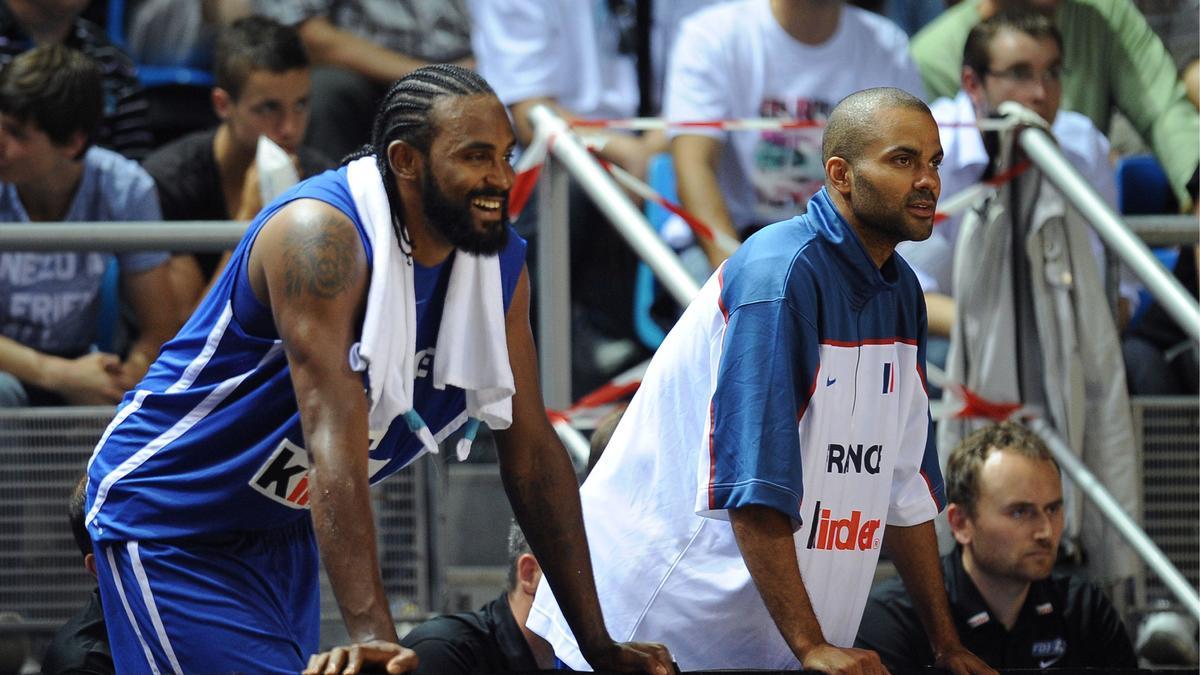 Tony Parker et Ronny Turiaf, Équipe de France