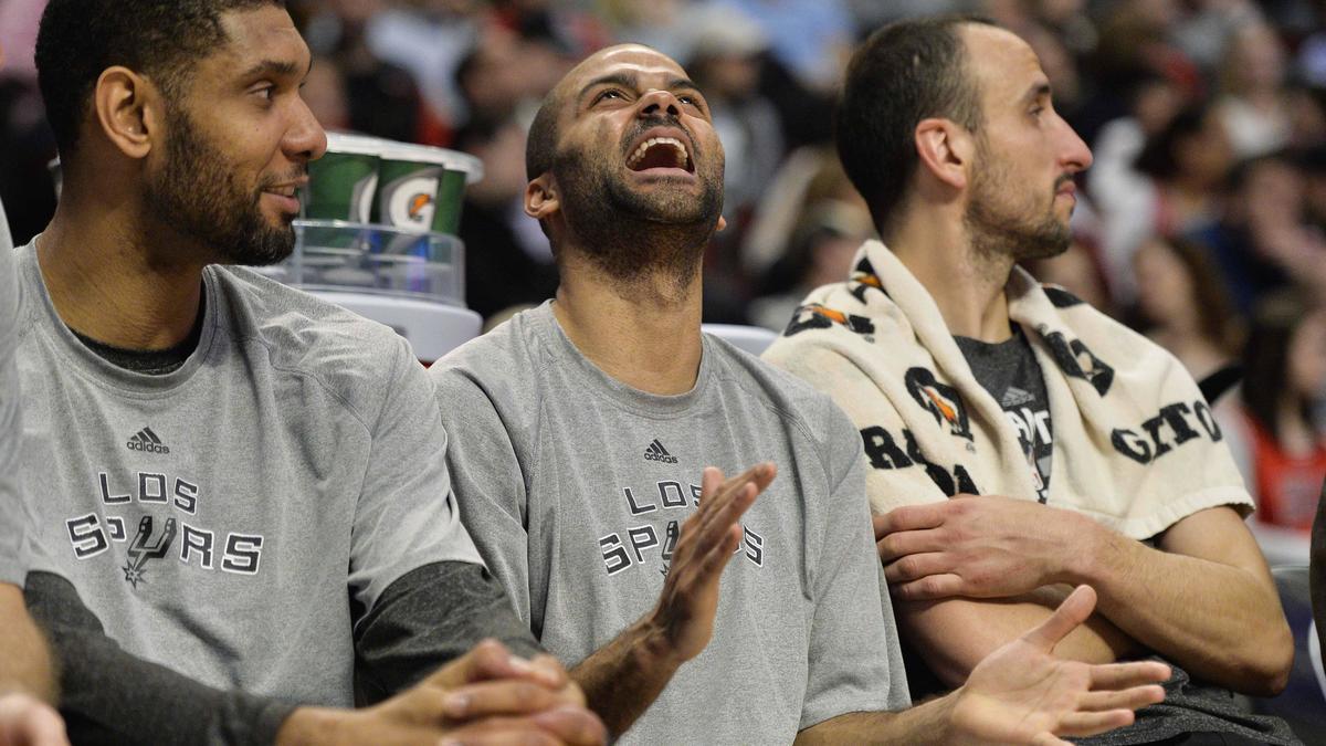 Tony Parker, Tim Duncan et Manu Ginobili, San Antonio Spurs