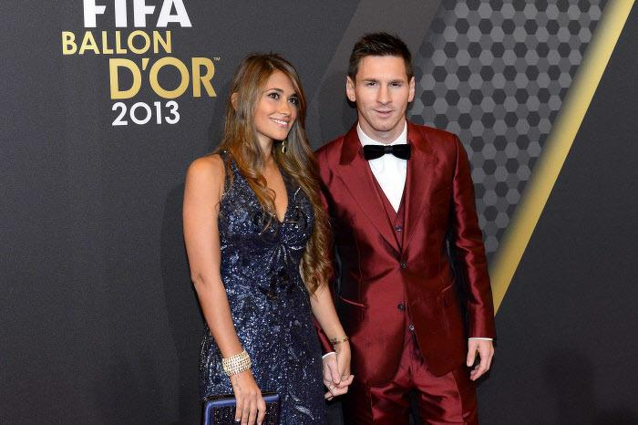Antonella Roccuzzo et Lionel Messi, en 2013