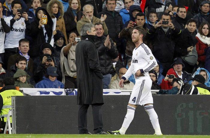 José Mourinho et Sergio Ramos au Real Madrid