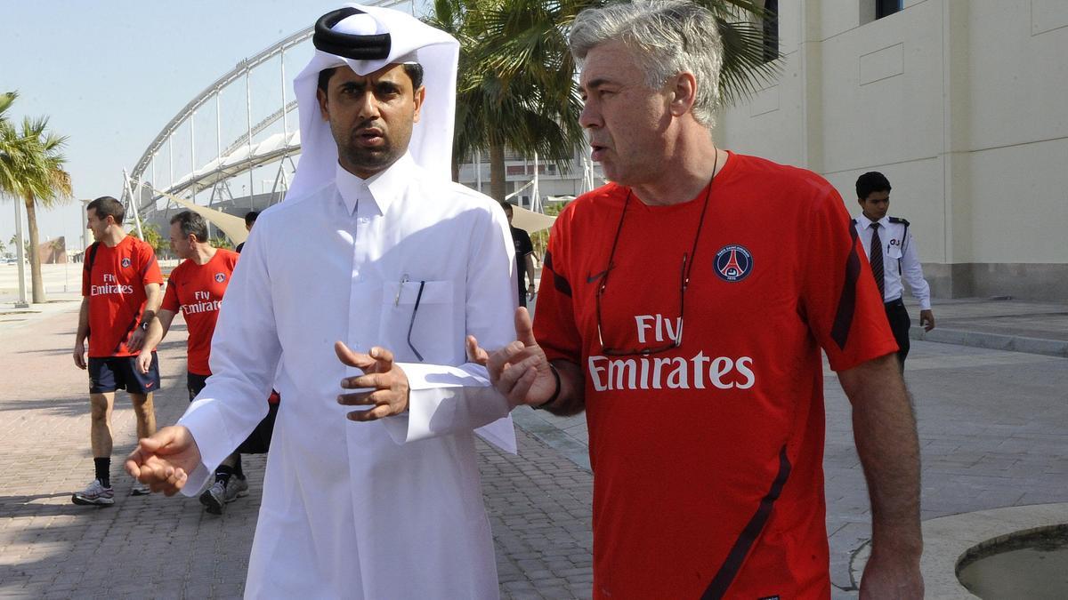 Nasser Al-Khelaïfi & Carlo Ancelotti