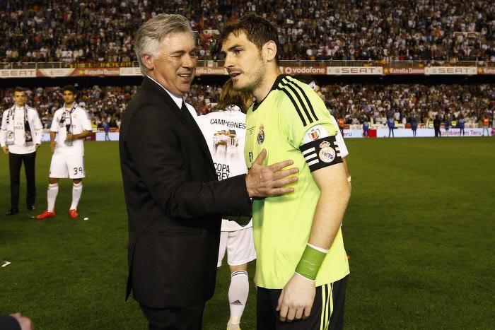 Carlo Ancelotti et Iker Casillas, Real Madrid