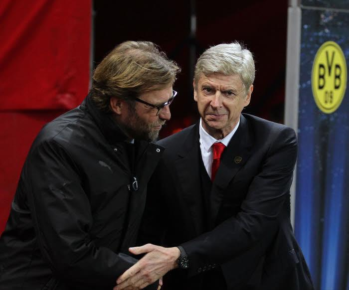 Jürgen Klopp et Arsène Wenger