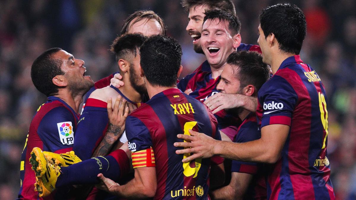 Joie des joueurs du FC Barcelone