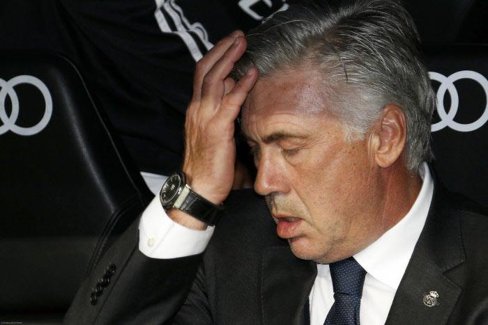 Carlo Ancelotti sur le banc du Real Madrid