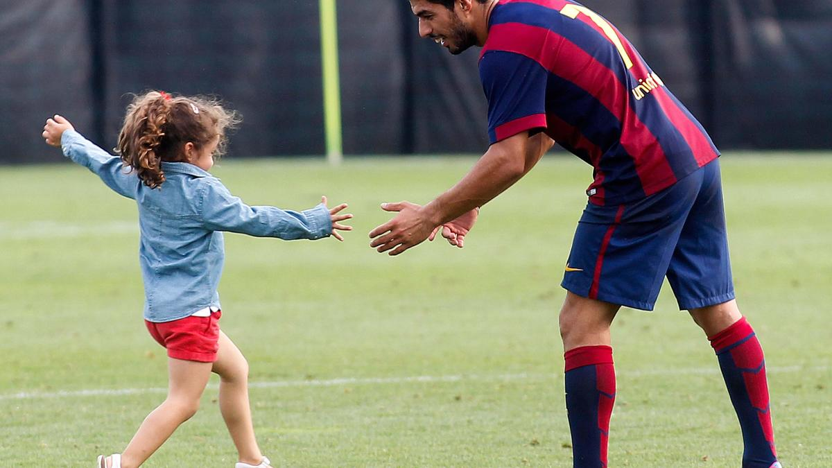 Luis Suarez et sa fille