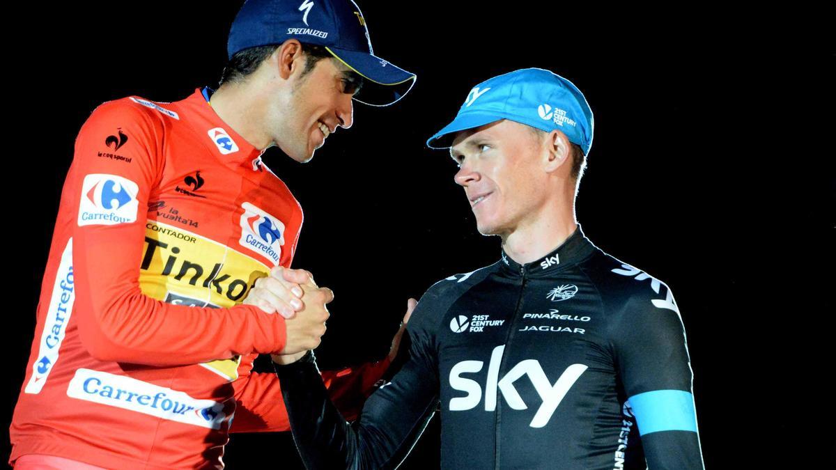 Alberto Contador & Christopher Froome