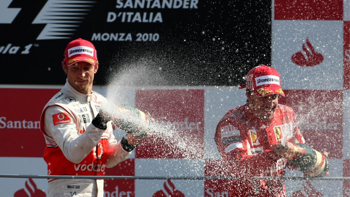 Jenson Button & Fernando Alonso