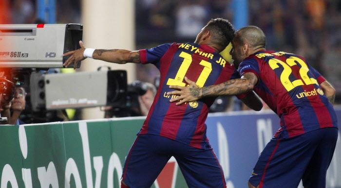 Neymar, Daniel Alves, Barcelone