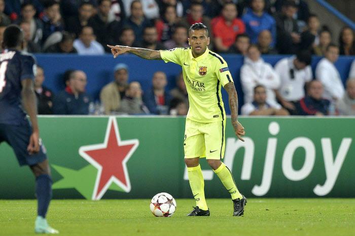 Daniel Alves avec le FC Barcelone