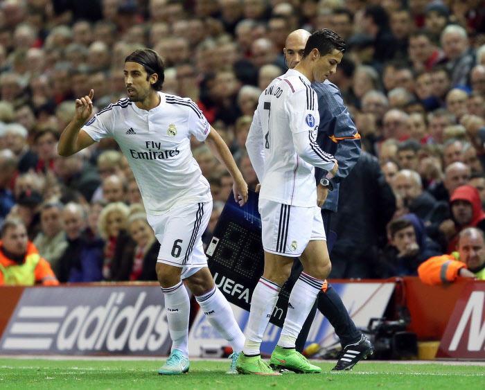 Sami Khedira et Cristiano Ronaldo, Real Madrid