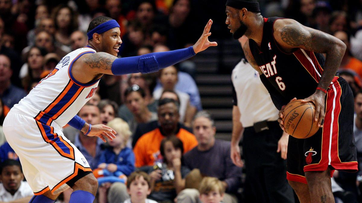 LeBron James & Carmelo Anthony, 2013