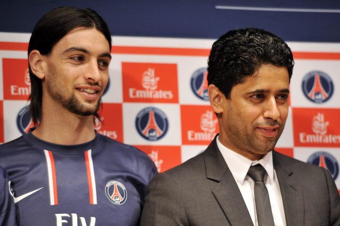 Javier Pastore, Nasser Al-Khelaïfi, PSG
