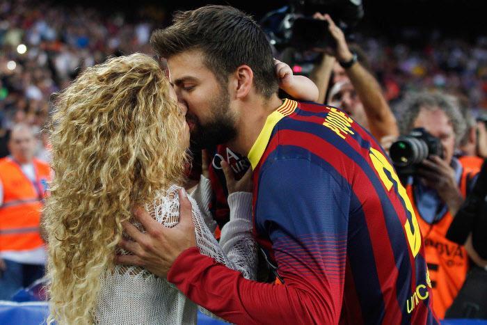 Gérard Piqué et sa femme Shakira