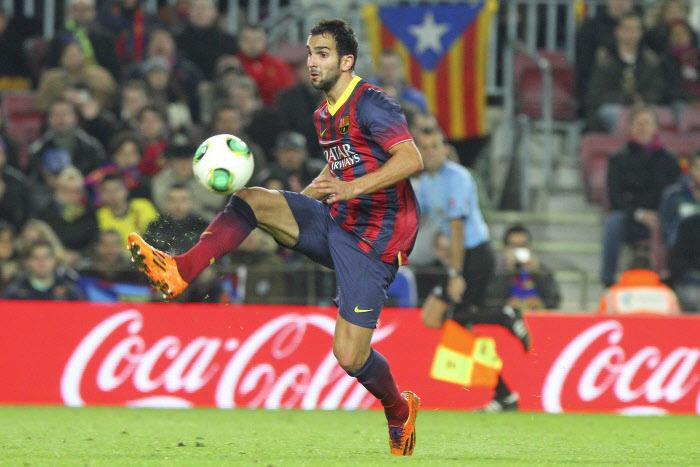 Martin Montoya avec le FC Barcelone