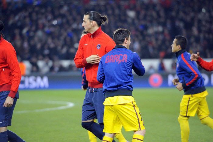 Zlatan Ibrahimovic et Lionel Messi