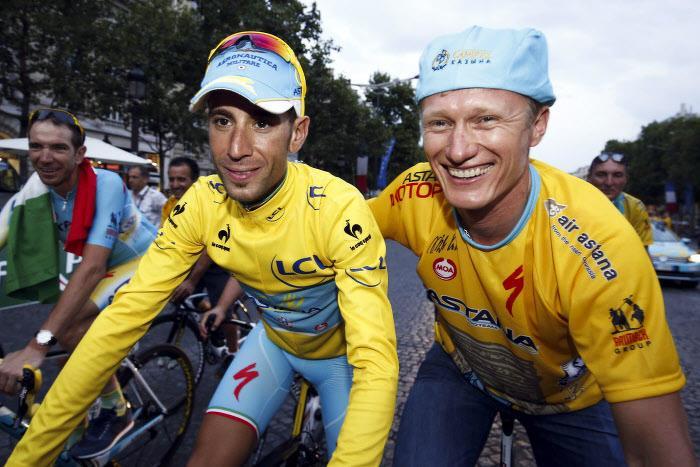 Vincenzo Nibali et Alexandre Vinokourov, Astana
