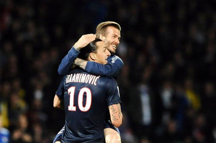 Zlatan Ibrahimovic, David Beckham, PSG