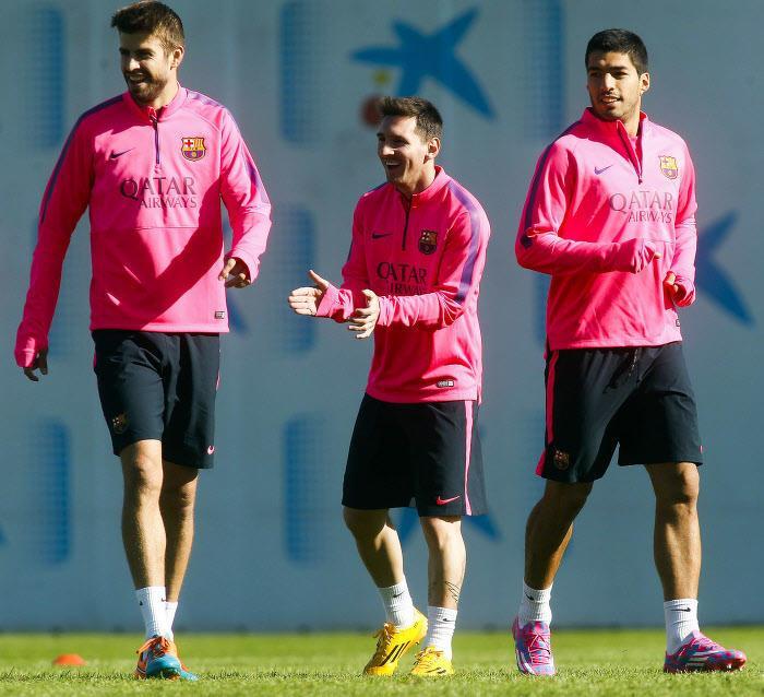 Lionel Messi, Luis Suarez, Barcelone