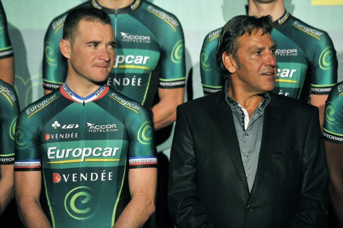Thomas Voeckler et Jean-René Bernaudeau, en 2013