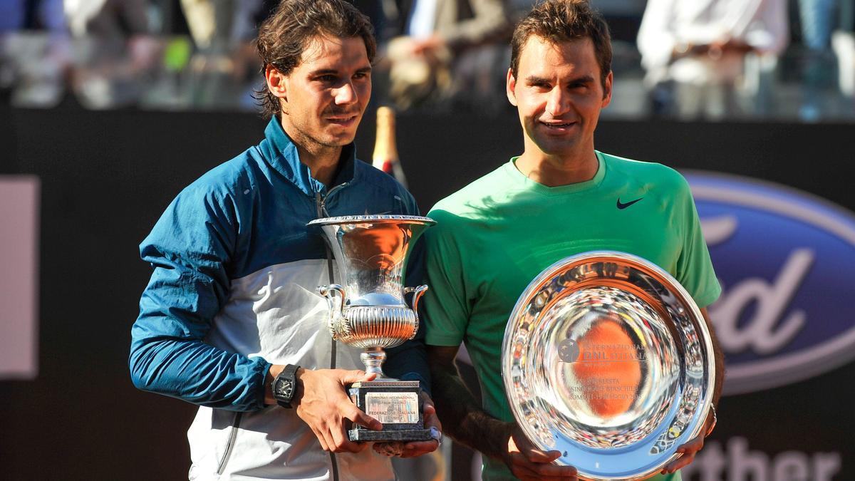 Rafael Nadal et Roger Federer, Rome