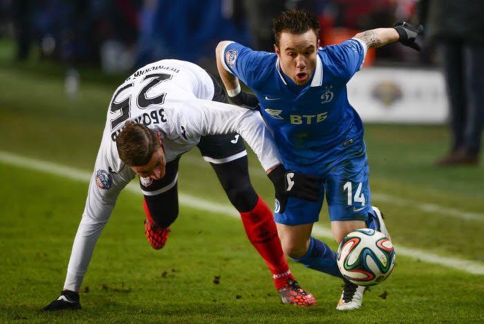 Mathieu Valbuena avec le Dynamo Moscou