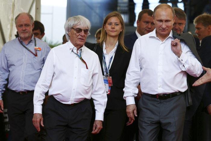 Bernie Ecclestone, ici avec Vladimir Poutine