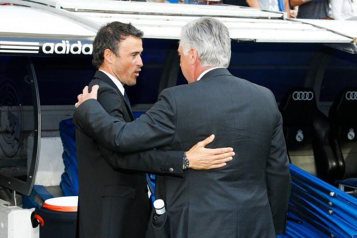 Luis Enrique et Carlo Ancelotti