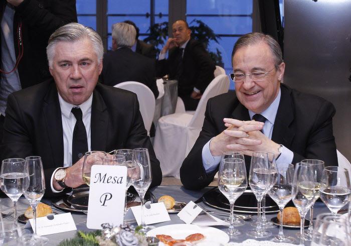 Carlo Ancelotti et Florentino Perez